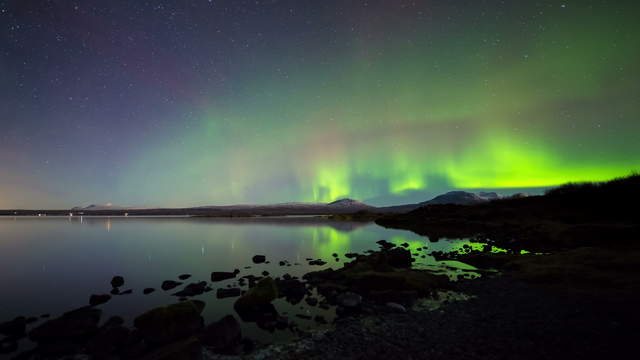 Aurora Borealis, Kamerafahrt | UHD 6K 4K Video Download